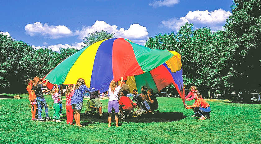 Witch Meadow Family Campground Parachute Activity