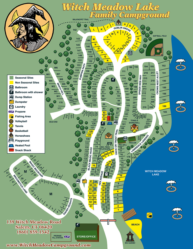 Witch Meadow Lake Campground Site Map